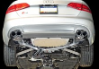 2013-2016 Audi / S4 B8 / S4 B8.5 / 3.0L Turbo / Cat Back Exhaust / Touring / Resonated / Black Tips 102mm (SKU: AWE-3010-43012)