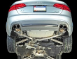 2009-2016 Audi A4 B8 / 2.0L Turbo / Cat Back Exhaust / Touring / Resonated / Silver Tips 90mm (SKU: AWE-3015-42018)
