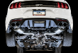2018-2019 Mustang GT / 5.0L / Cat Back Exhaust / Quad Outlet / Touring / Resonated / Black Tips (SKU: AWE-3015-43106)