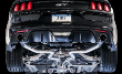 2015-2017 Mustang GT / 5.0L / Cat Back Exhaust / Track / Resonated / Silver Tips (SKU: AWE-3020-32028)