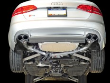 2010-2016 Audi S4 B8 / 3.0L Turbo / Cat Back Exhaust / Track / Non-Resonated / Silver Tips 90mm (SKU: AWE-3020-42020)