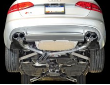2013-2016 Audi S4 B8.5 / 3.0L Turbo / Cat Back Exhaust / Track / Resonated / Silver Tips 102mm (SKU: AWE-3020-42026)
