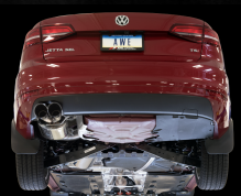 2014-2018 VW Jetta 1.8 / MK6 / Cat Back Exhaust / Touring / Resonated / Silver Tips
