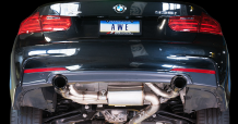 2012-2015 BMW 335i / 3.0L Turbo / Axle Back Exhaust / Touring / Resonated / Black Tips 90mm