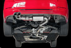 2014-2016 BMW 428i / 2.0L Turbo / Axle Back Exhaust / Single Side / Touring / Resonated / Silver Tips 80mm