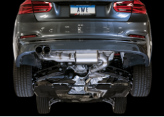 2017-2019 BMW 430i / 2.0L Turbo / Axle Back Exhaust / Single Side / Touring / Resonated / Black Tips 80mm