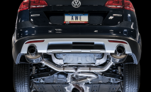 2017-2019 VW Golf Alltrack / 1.8L Turbo / Cat Back Exhaust / Touring / Resonated / Silver Tips