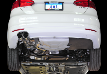 2011-2018 VW Jetta 2.5L / MK6 / Cat Back Exhaust / Track / Resonated / Silver Tips