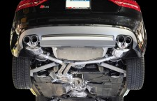2008-2012 Audi S5 B8 / 4.2L / Cat Back Exhaust / Track / Resonated / Silver Tips 90mm