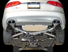 2013-2016 Audi S4 B8.5 / 3.0L Turbo / Cat Back Exhaust / Track / Resonated / Silver Tips 102mm