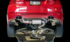 2012-2016 BMW 328i / 2.0L Turbo / Axle Back Exhaust / Quad Outlet / Touring / Resonated / Black Tips 80mm