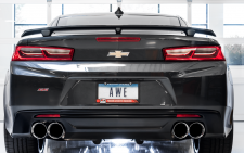 2016-2019 Camaro SS / 6.2L / Axle Back Exhaust / Quad Outlet / Track / Non-Resonated / Silver Tips