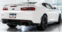 2017-2019 Camaro ZL1 / 6.2L / Axle Back Exhaust / Quad Outlet / Track / Non-Resonated / Silver Tips