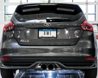 2013-2018 Ford Focus ST / 2.0L Turbo / Cat Back Exhaust / Touring / Non-Resonated / Silver Tips