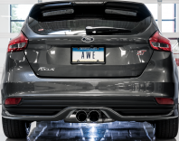 2013-2018 Ford Focus ST / 2.0L Turbo / Cat Back Exhaust / Track / Resonated / Silver Tips
