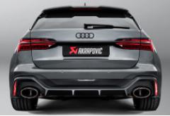2020-2020 Audi RS 6 Avant ( C8 ) / Akrapovic Titanium Cat Back / Carbon Fiber-Titanium Tips