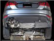 2011-2018 VW Jetta 2.0L Turbo MK6 GLI / Cat Back Exhaust / Touring / Resonated / Silver Tips