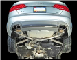 2009-2016 Audi A4 B8 / 2.0L Turbo / Cat Back Exhaust / Touring / Resonated / Silver Tips 90mm