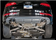 2014-2017 Audi SQ5 8R / 3.0L Turbo / Cat Back Exhaust / Touring / Non-Resonated / Black Tips 102mm
